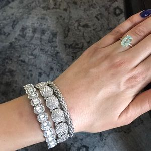 Jewelry - Silver bracelet set worn once